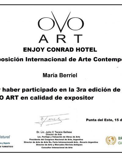 OVO ART certificado